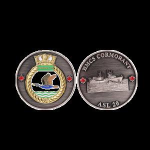 HMCS cormorant challege coin