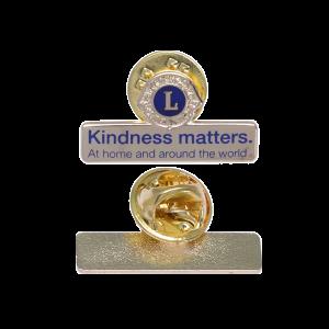 Lion gold name pin