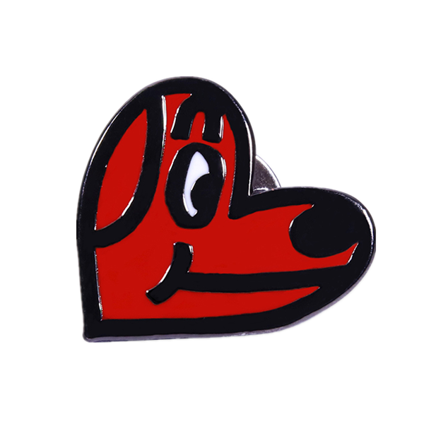 Red Dog lapel pin