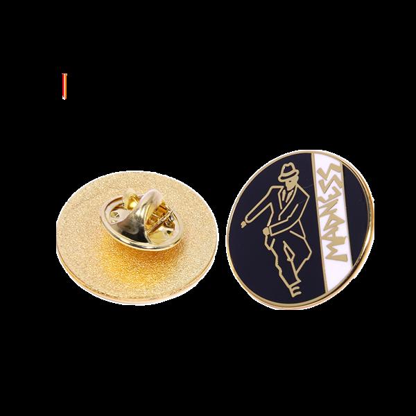 Round hard enamel pin