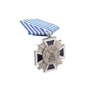 matte silver medal