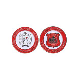 red lucky double sided coin
