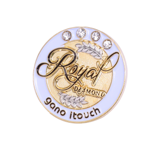 royal diamond lapel pin