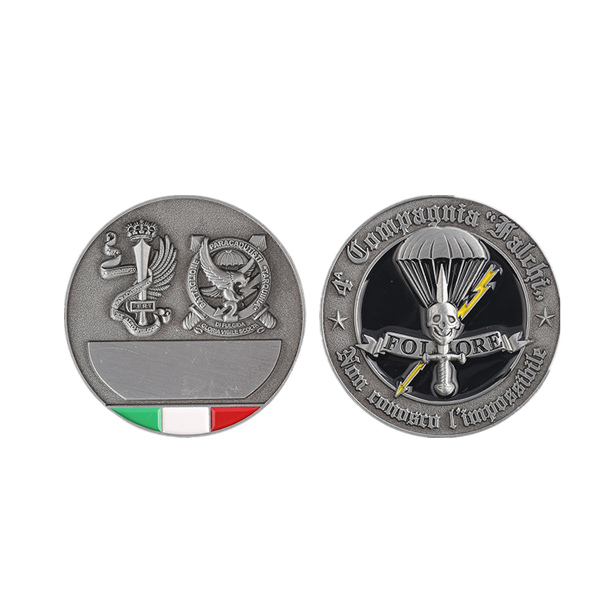 two sides challenge coin