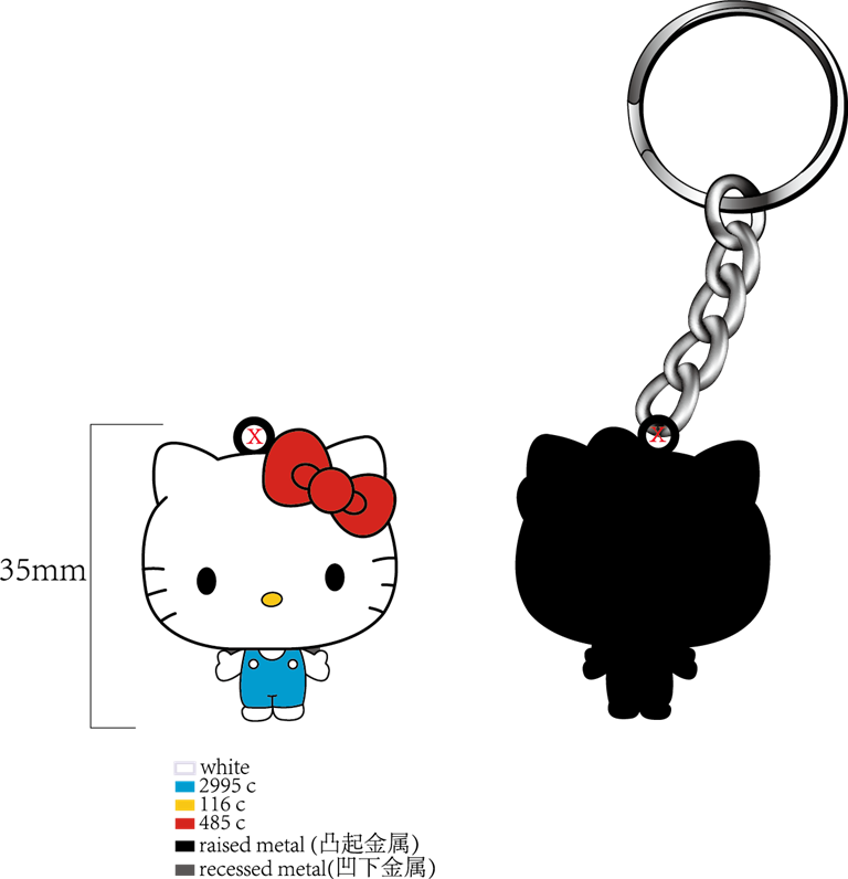 Kitty keychain-proof