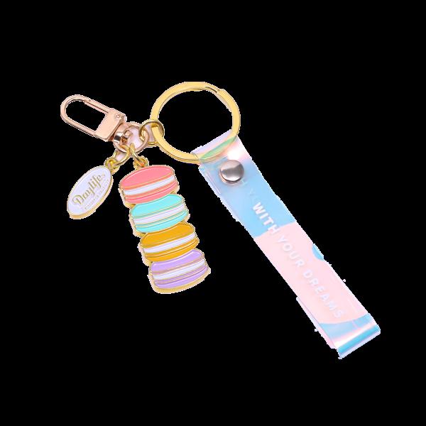 Macaron personailzed keychains