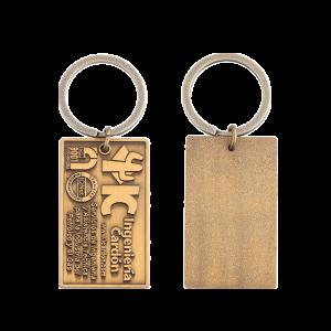 Nameplate enamel keychain