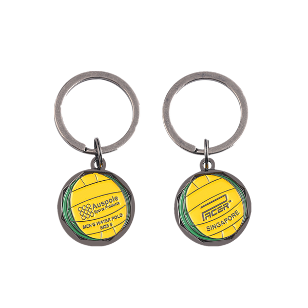 Rotatable ball keychain