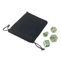Dice with Velvet Bag