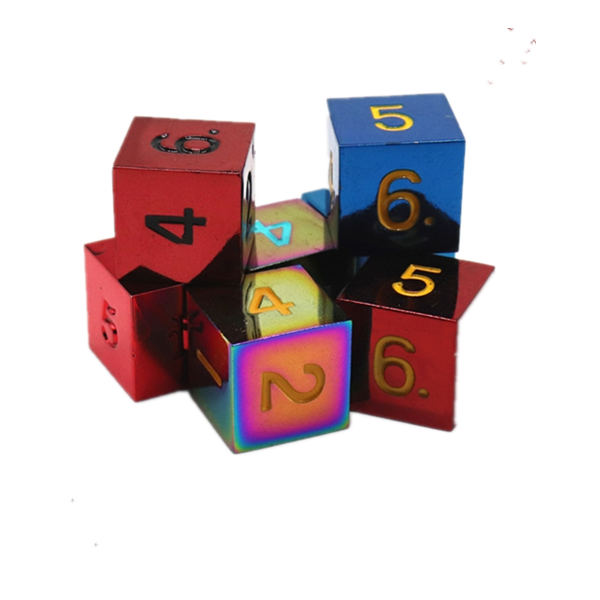 6 sides colorful dice