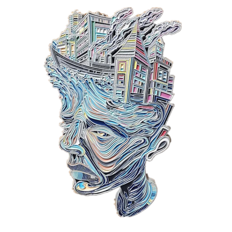 custom difficult enamel pin