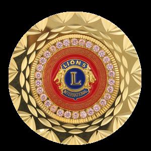 round lion coin