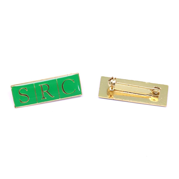 Nameplate metal pin