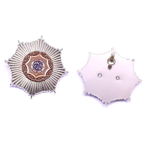 Octagon star pin