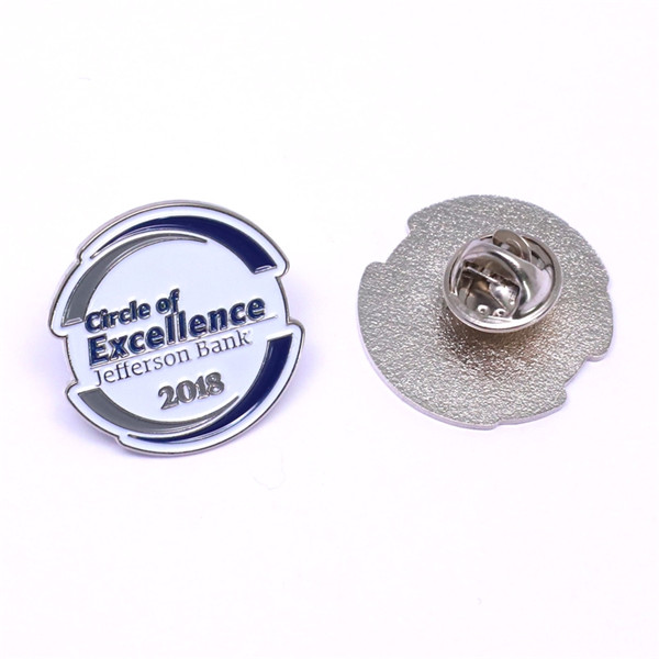 bank logo lapel pin