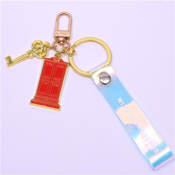 door shape cute key rings
