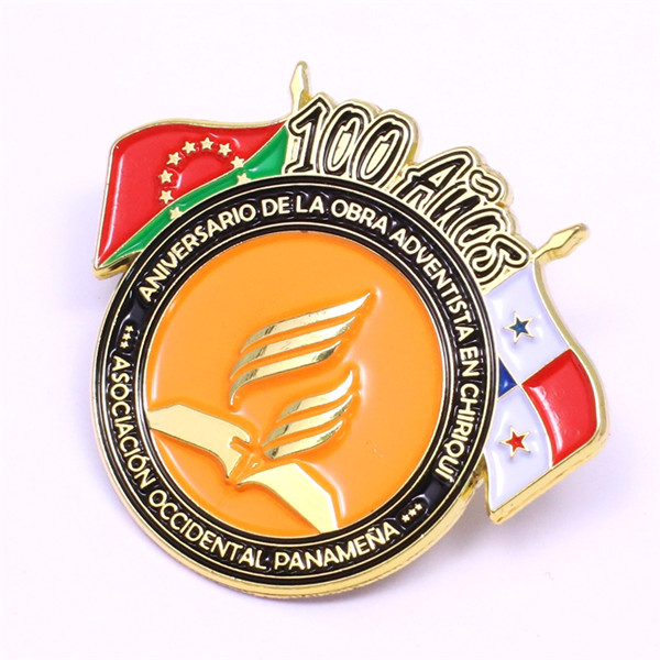 flag soft enamel pin
