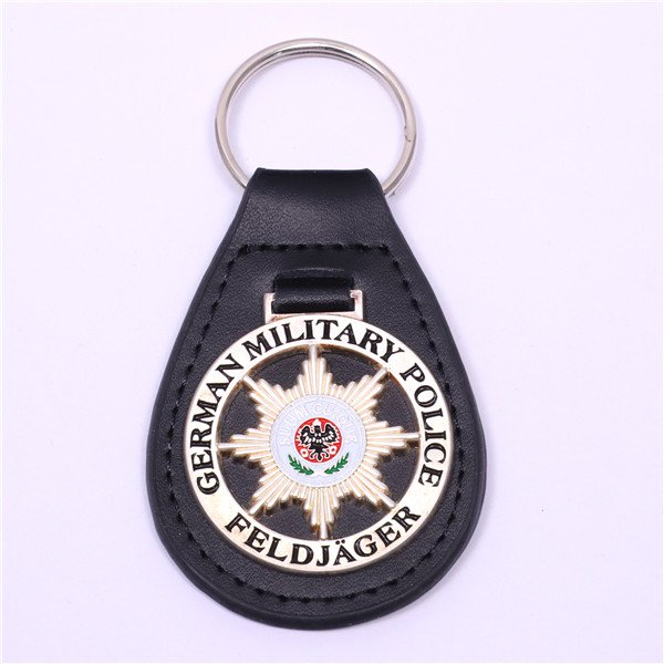 leather keyring for policemen